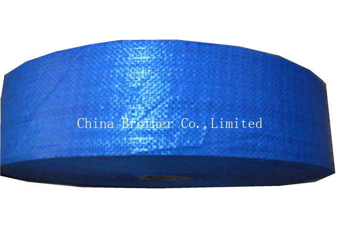 Raffia Polypropylene Pp Woven Fabric In Roll , Tubular Poly Woven Fabric For Packing